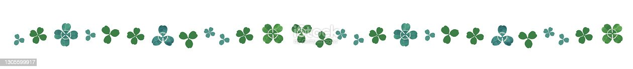 istock Clover Watercolor Materials. ruled line, Line Decoration (vol.2) 1305599917