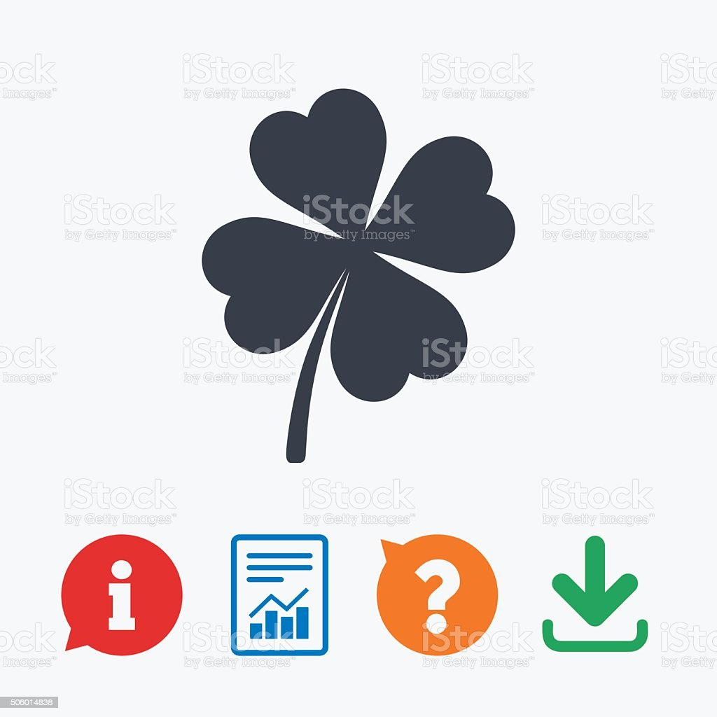 Clover with four leaves sign st patrick symbol stock vector art st patrick symbol royalty free stock vector art biocorpaavc