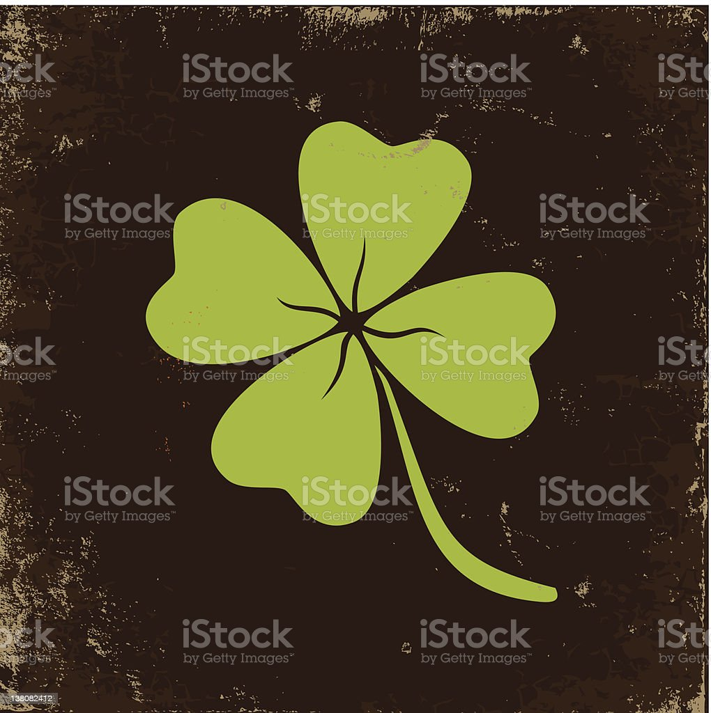 Clover with four leaves royalty-free clover with four leaves stock vector art & more images of brown