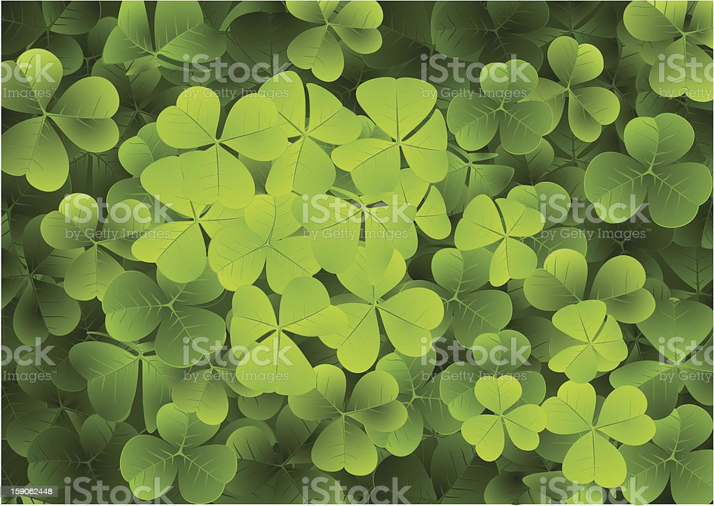 Clovers Background royalty-free stock vector art