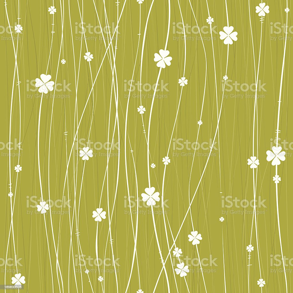 Clovers seamless background vector art illustration