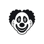 Clown black simple icon