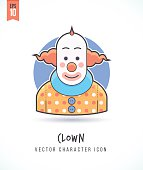 Clown Circus show party member illustration