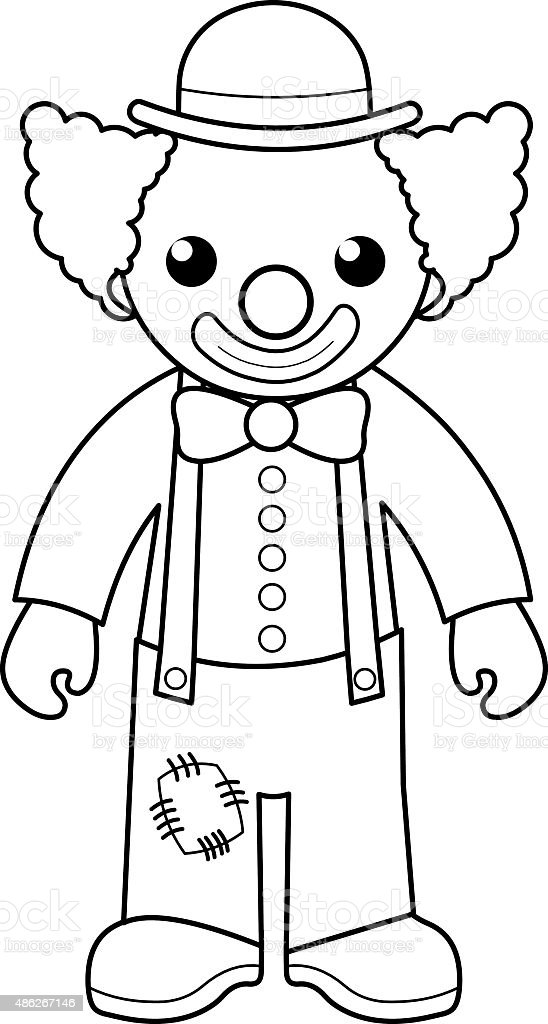 Clown Coloring Page For Kids stock vector art 486267146 iStock