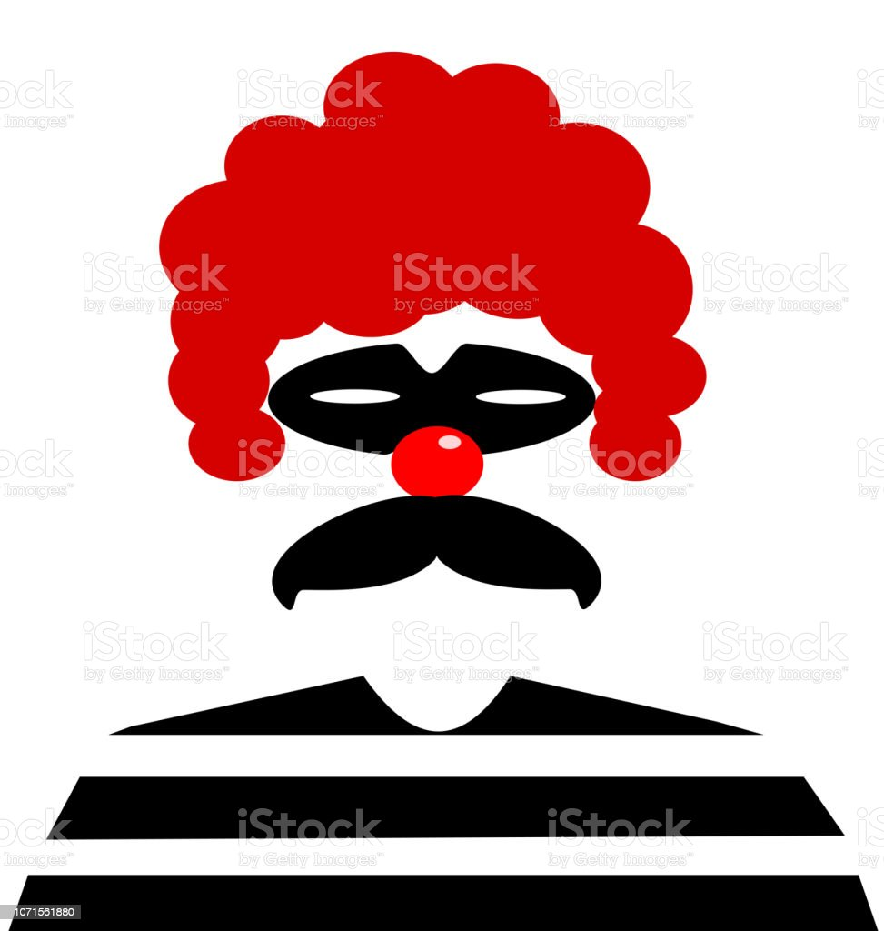 clown criminal vector art illustration