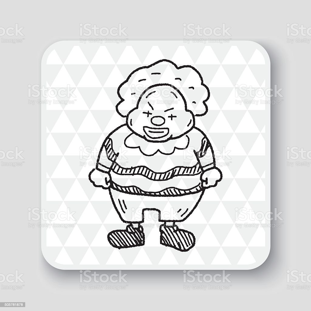 Clown Dessin Doodle Cliparts Vectoriels Et Plus D Images De