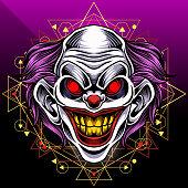 Illustration of clown esport mascot   design