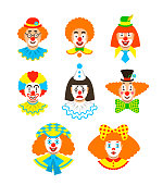 Clown faces different avatars