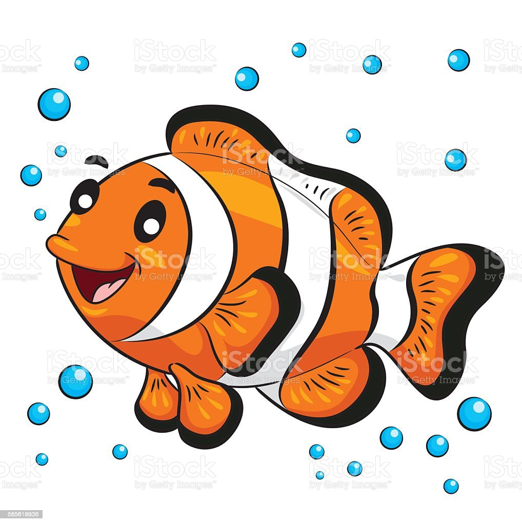 Clown Fish Cartoon Stock Vector Art & More Images of Anemonefish ...