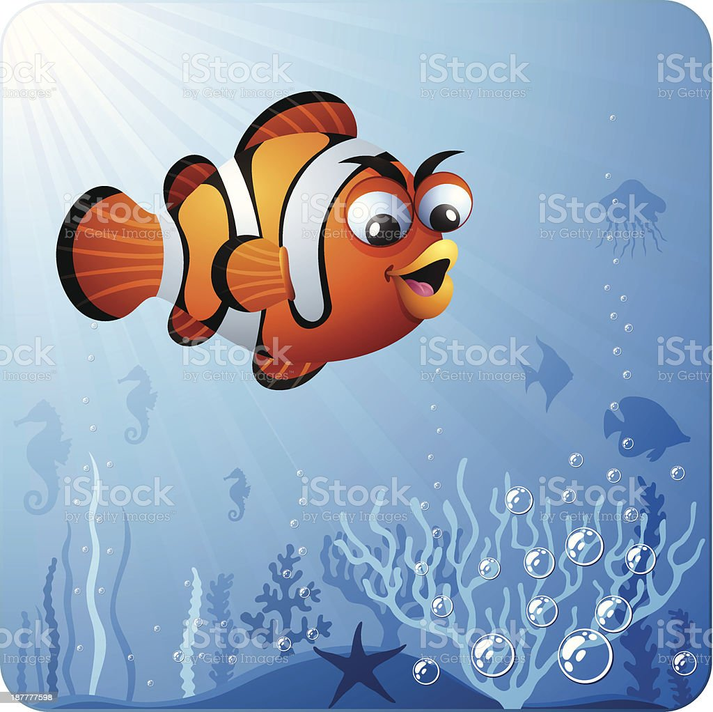 Clown Fish Character royalty-free clown fish character stock vector art & more images of anemonefish