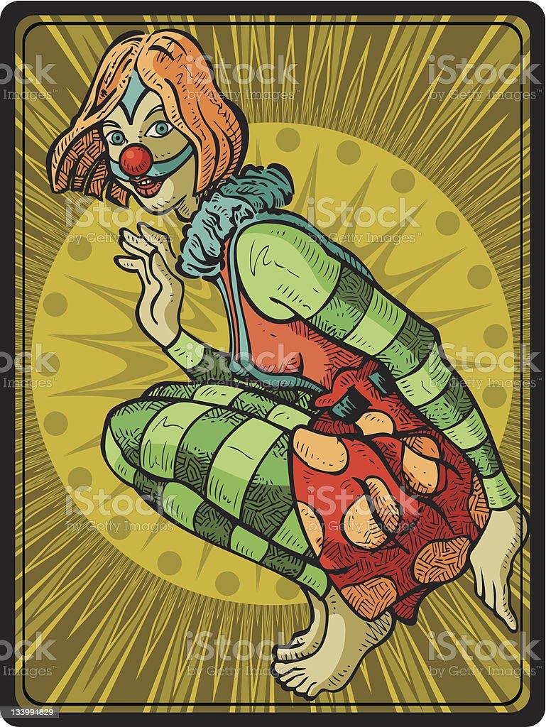 Clown Girl III royalty-free stock vector art
