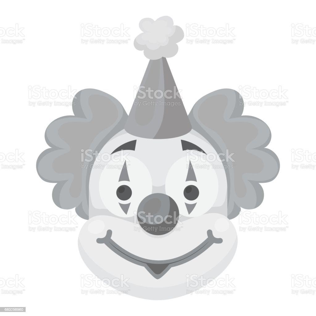 어릿광대 흰색 배경에 고립 된 흑백 스타일에서 아이콘. 서커스 기호 스톡 벡터 일러스트입니다. royalty-free 어릿광대 흰색 배경에 고립 된 흑백 스타일에서 아이콘 서커스 기호 스톡 벡터 일러스트입니다 공연에 대한 스톡 벡터 아트 및 기타 이미지