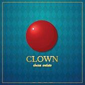 Clown logo, circus typography design, vector illustration