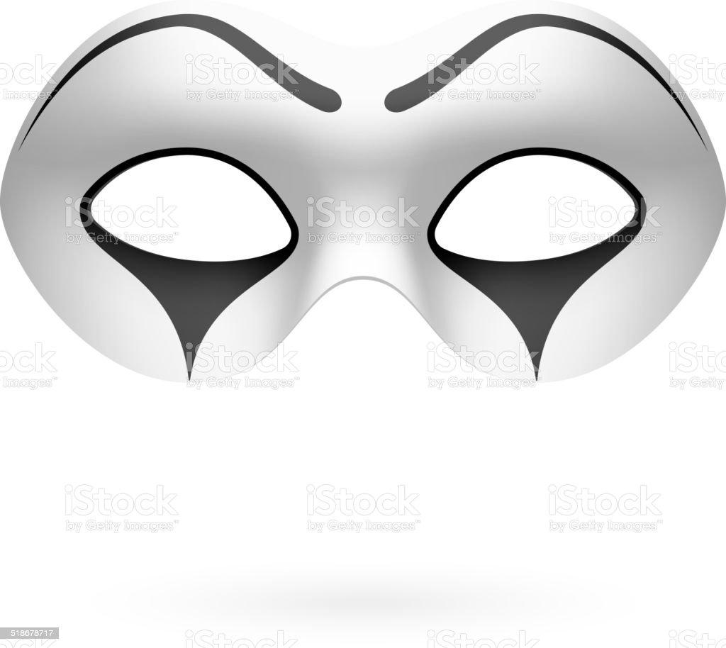Payaso máscara, artista de mímica - ilustración de arte vectorial