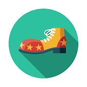 istock Clown Shoe Flat Design April Fools Day Icon 1084651530
