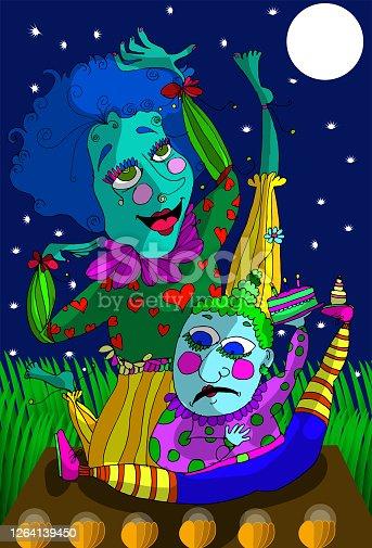 istock Clown Show at night 1264139450