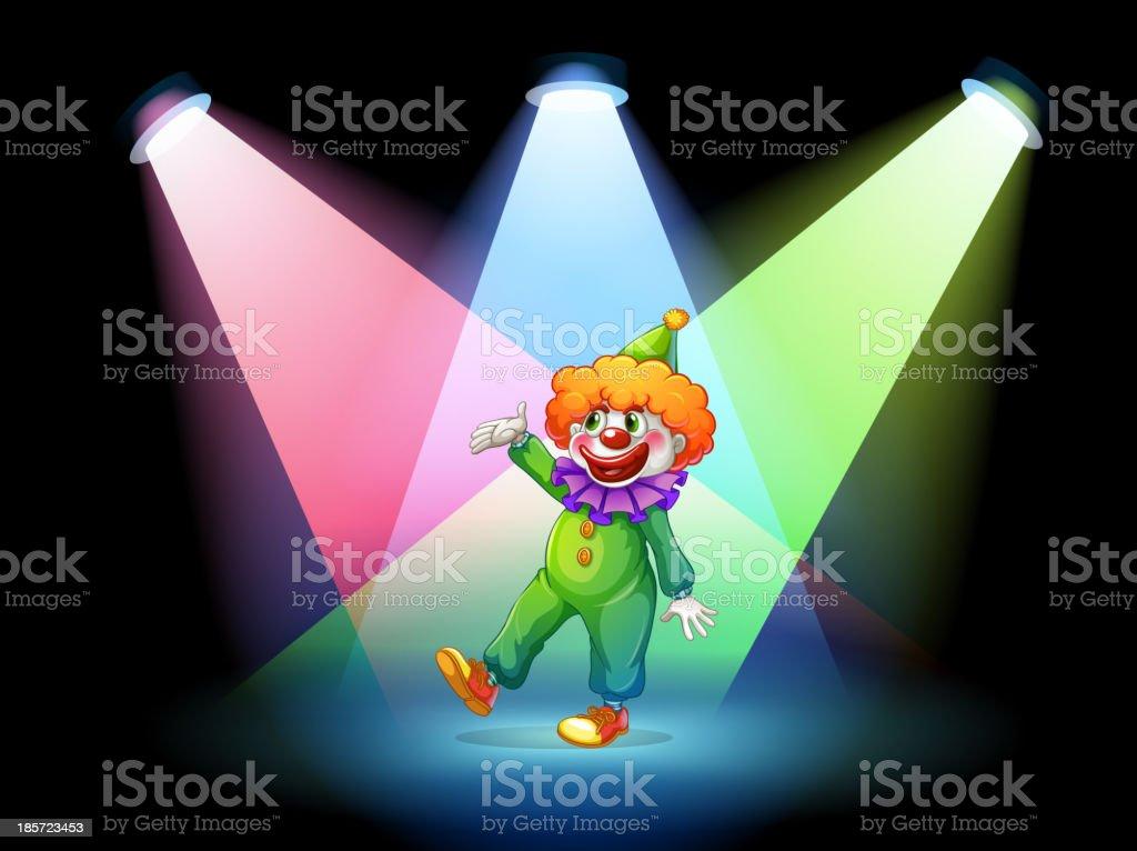 clown under the spotlights royalty-free stock vector art
