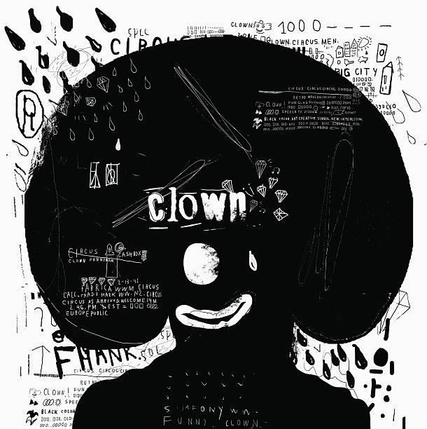 Clown vector art illustration