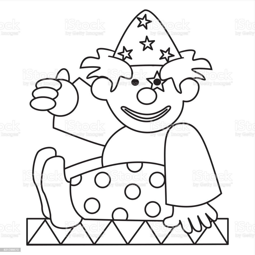 Clown Stock Vektor Art und mehr Bilder von Ausmalen - iStock