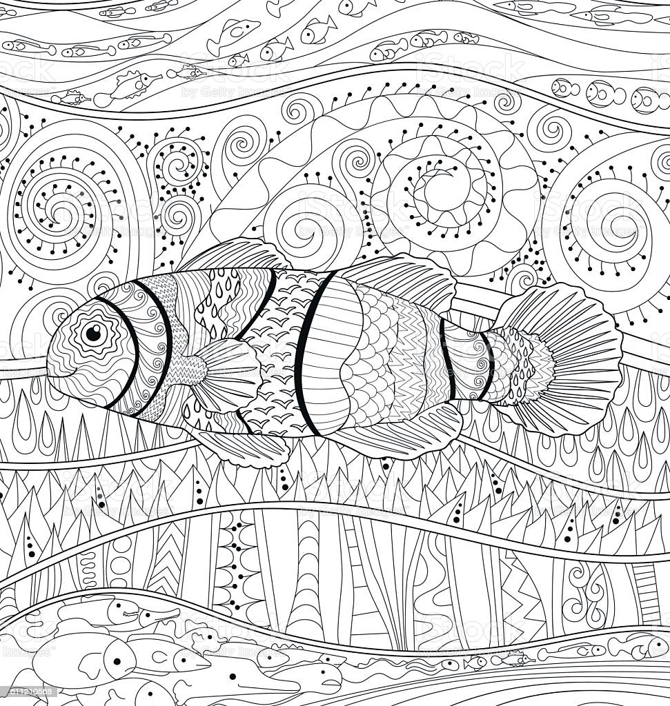 Clownfish with high details. vector art illustration