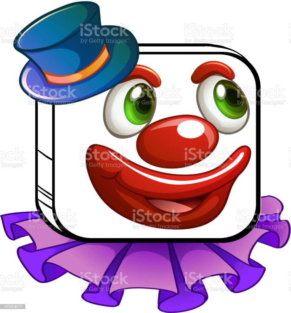 Clown's face royalty-free stock vector art