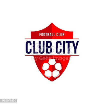 istock Club City Football Club icon Vector Template 988106830