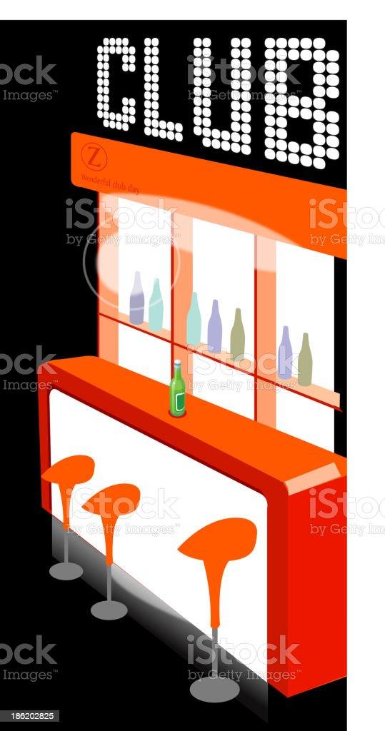 Club counter interior royalty-free stock vector art