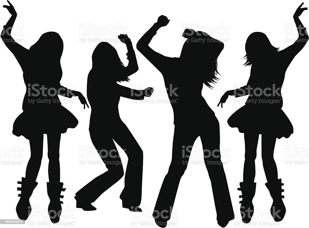 Club Girls ( vector ) vector art illustration