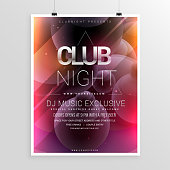 club night party flyer template with date and time details