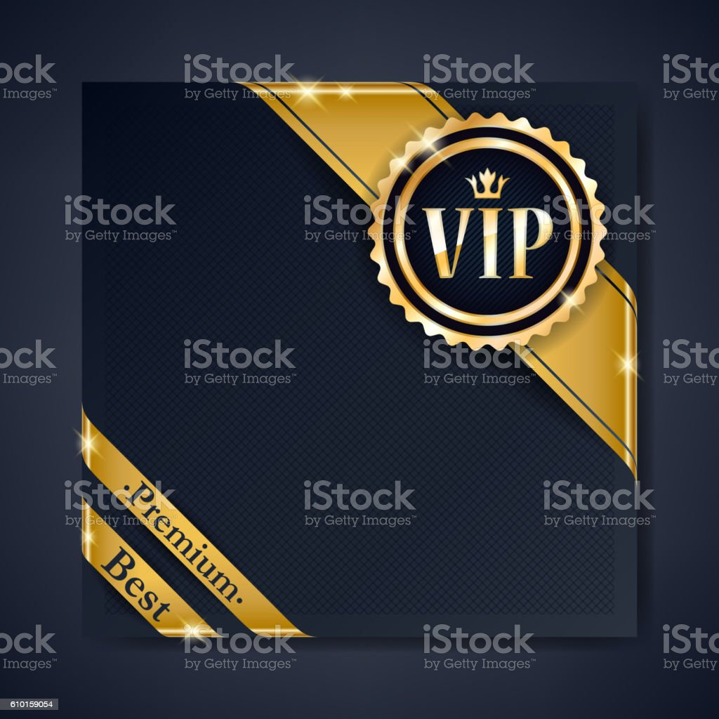 VIP club party premium invitation card poster flyer. vector art illustration