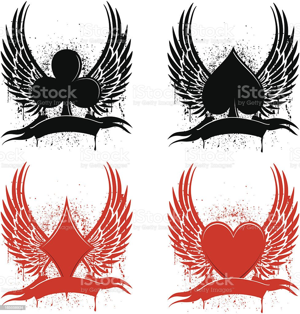 club tattoos vector art illustration