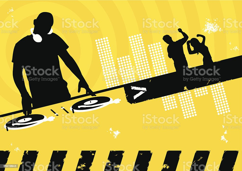 Clubbing Scene vector art illustration