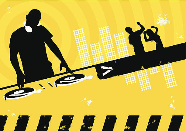 stockillustraties, clipart, cartoons en iconen met clubbing scene - dj