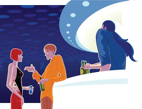 Clubbing Stockvectorkunst en meer beelden van Alleen volwassenen