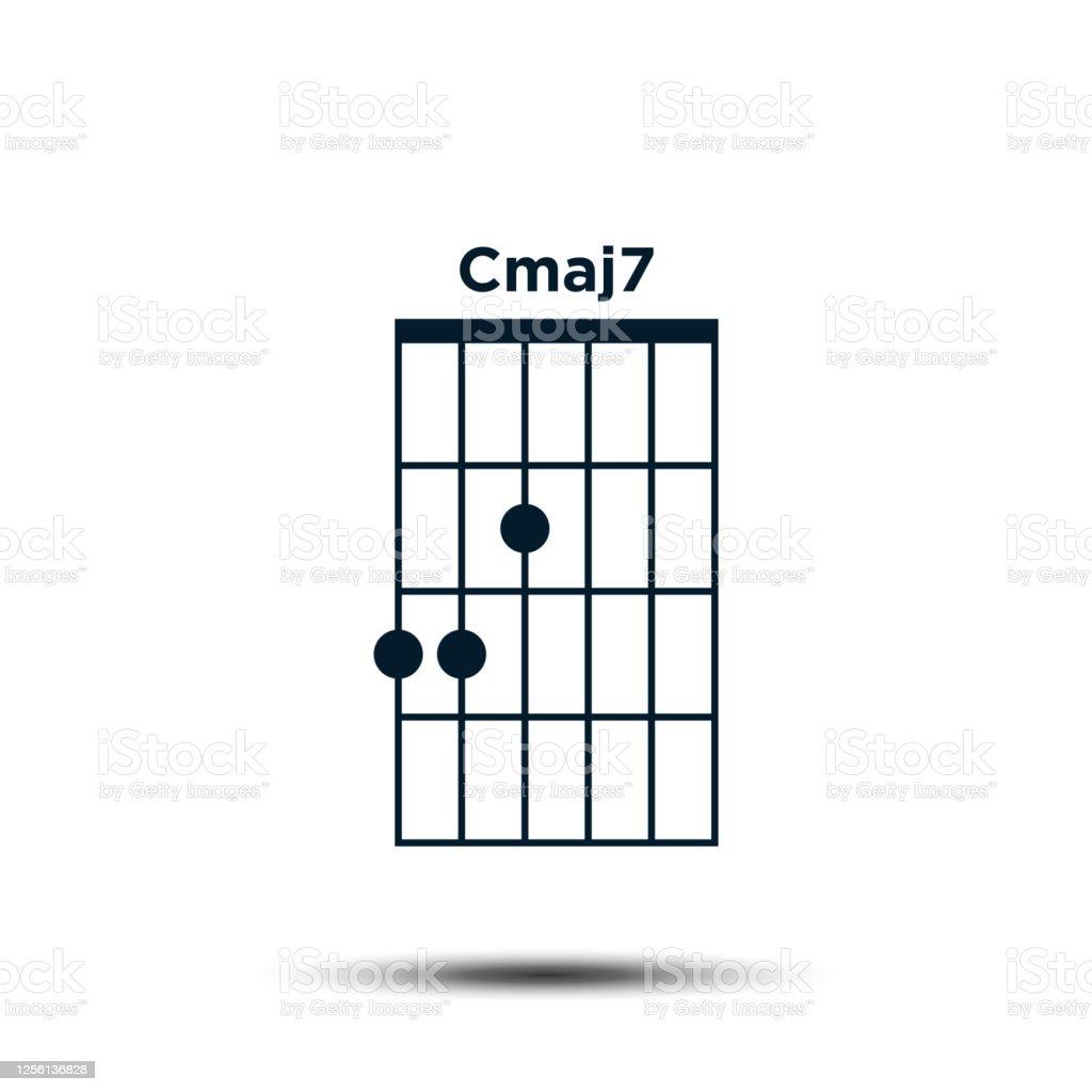 Cmaj15 Basis Gitarre Chord Diagramm Icon Vektor Vorlage Stock Vektor Art und  mehr Bilder von 15. Halswirbel