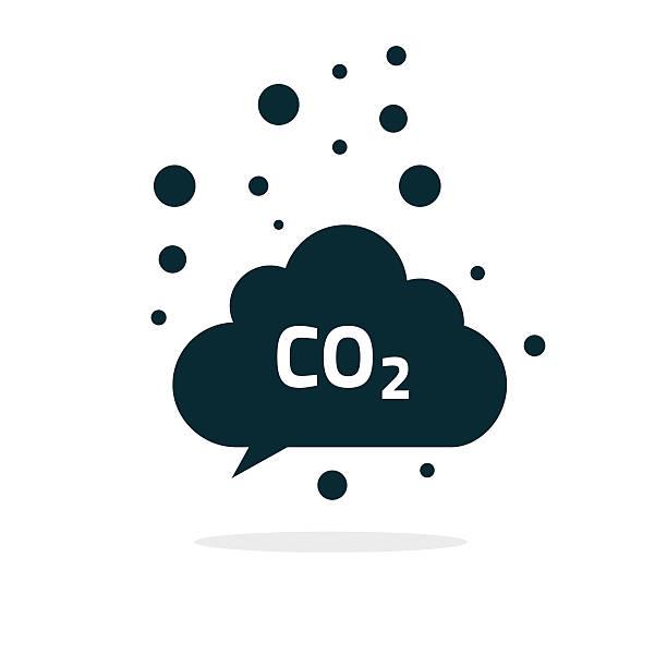 bildbanksillustrationer, clip art samt tecknat material och ikoner med co2 emissions cloud icon vector, carbon dioxide emits symbol smog - co2