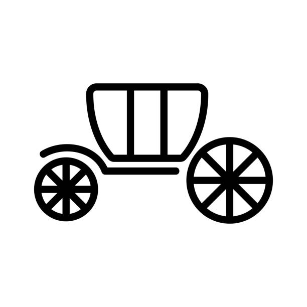 Coach brougham icon vector. Isolated contour symbol illustration Coach brougham icon vector. Thin line sign. Isolated contour symbol illustration image stock illustrations