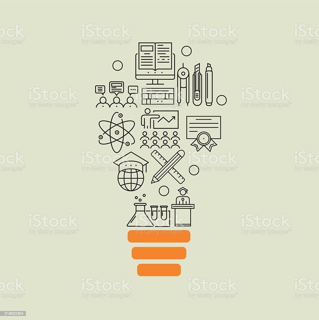 指導および教育背景のアウトラインアイデア のイラスト素材 518522304