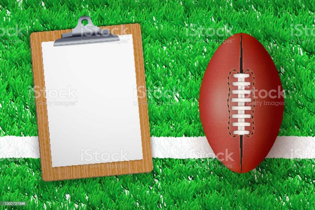 Coaching blank clipboard vector art illustration