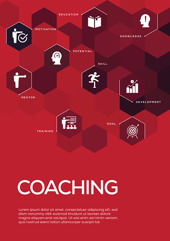 Coaching. Brochure Template Layout, Cover Design