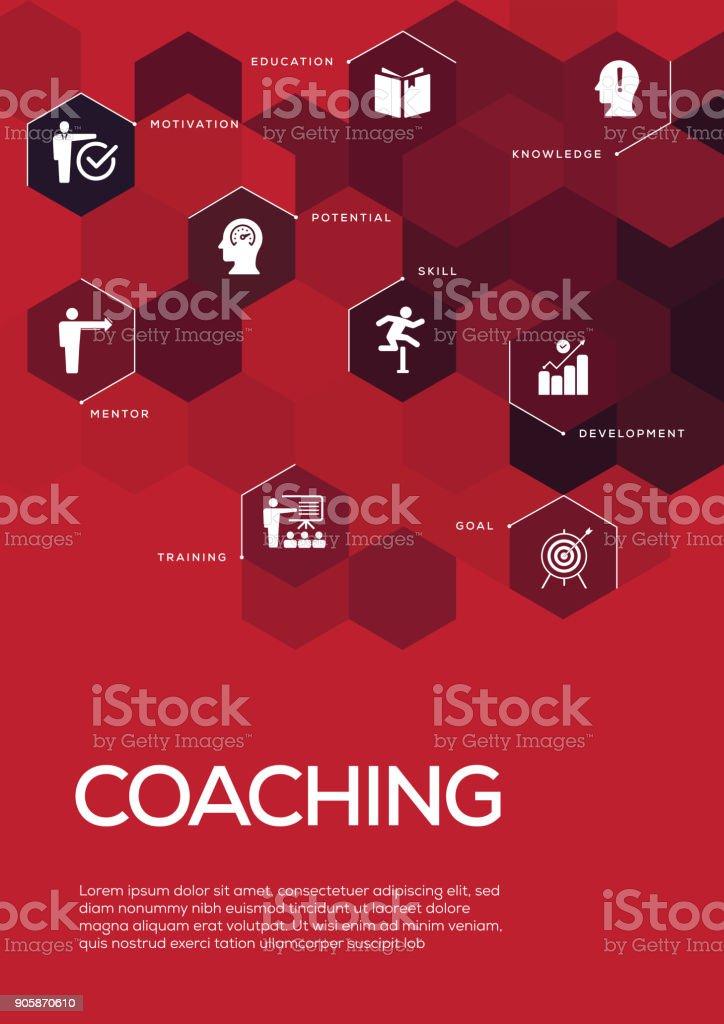 Coaching. Broschüre Vorlage Layout, Cover-Design – Vektorgrafik