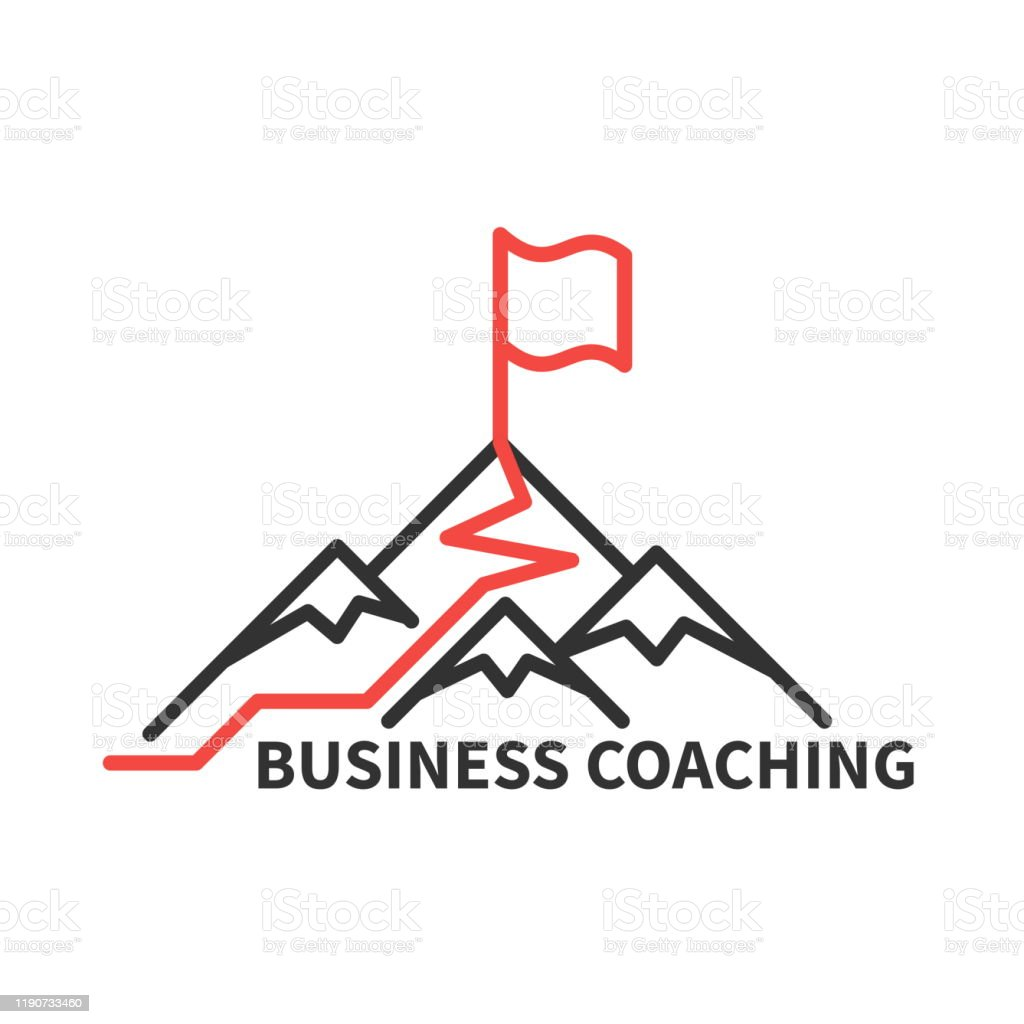 Coaching business logo - Grafika wektorowa royalty-free (Abstrakcja)