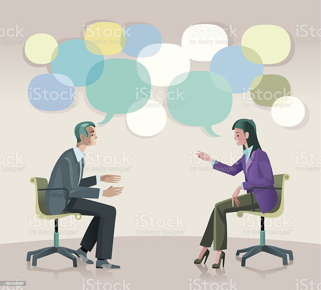 Coaching Communication vector art illustration