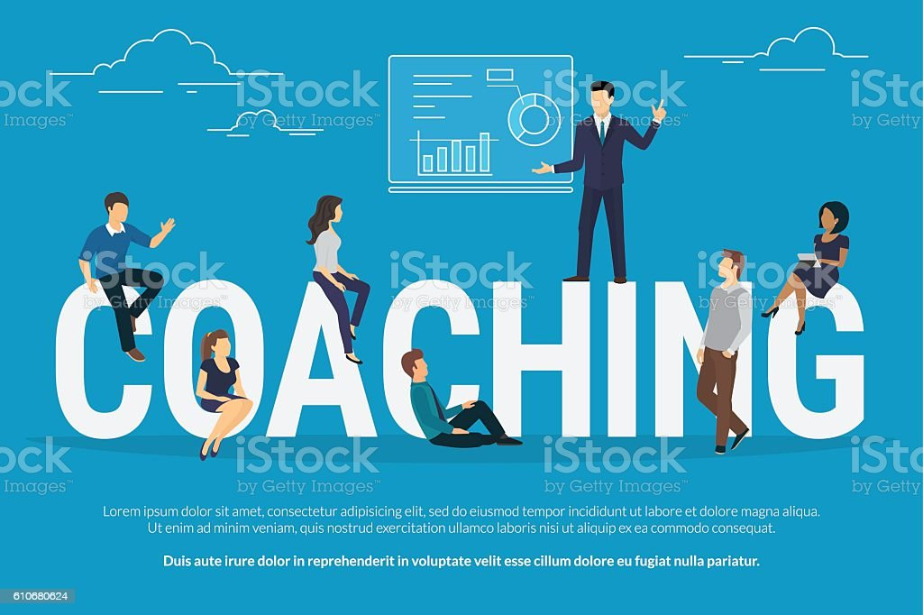 Coaching concept illustration vector art illustration