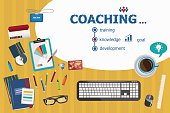 Coaching design and flat design illustration concepts for busine