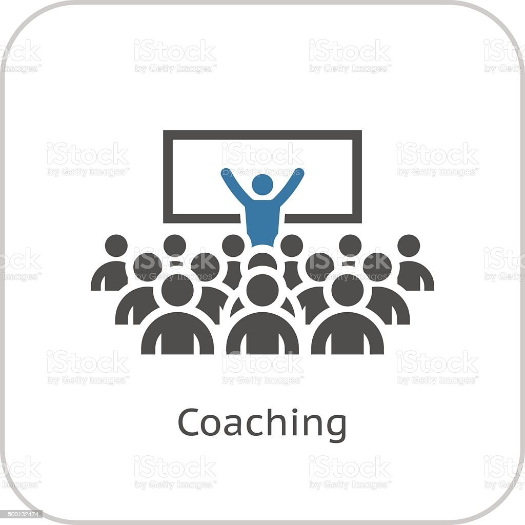 Coaching Icon. Business Concept. vector art illustration