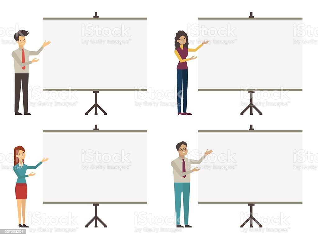 coaching presentation vector art illustration