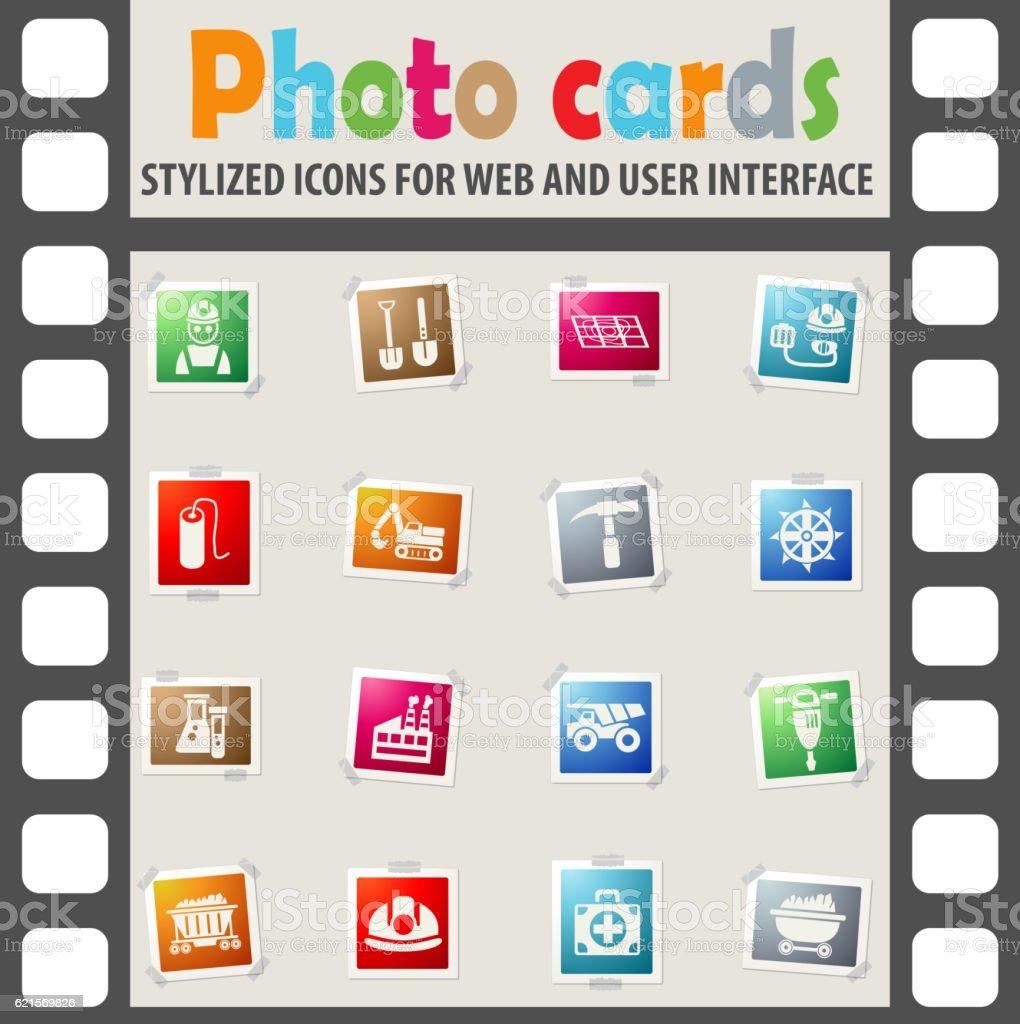 coal industry icon set coal industry icon set – cliparts vectoriels et plus d'images de cartes à jouer libre de droits