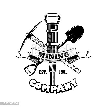 istock Coal miners tools vector illustration 1285468386