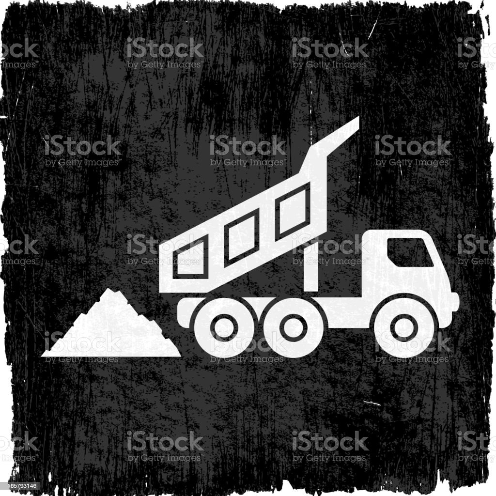 Coal Mining Truck on Black royalty free vector Background vector art illustration